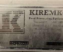 Used Kiremko Peeler